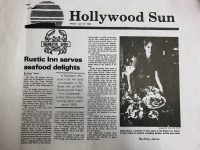 Hollywood Sun - Rustic Inn serves seafood delights