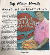 The Miami Herald - Where a bib and paper tablecloth will do ya