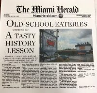 The Miami Herald - Old-School Eateries