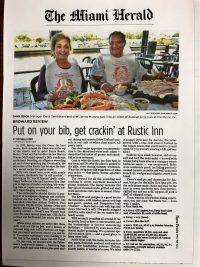 The Miami Herald - Put on your bib, get crakin' at Rustic Inn